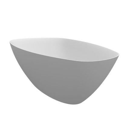Cada free-standing Riho Toledo 158x110cm, compozit, alb mat