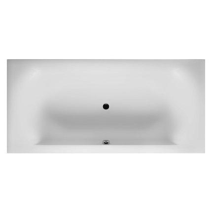 Cada baie rectangulara incastrabila Riho Linares Velvet 190x90cm, acril, finisaj alb mat