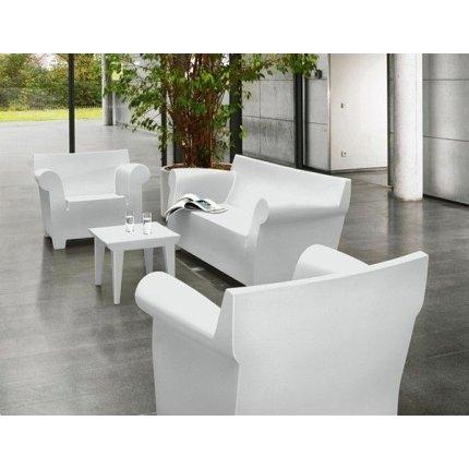 Canapea Kartell Bubble Club cu doua locuri, design Philippe Starck, 195cm, alb zinc