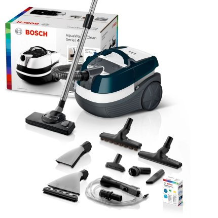 Aspirator Wet&Dry Bosch BWD41720 3in1 Serie 4, 1700 W, AquaWash&Clean, turquoise-white-grey