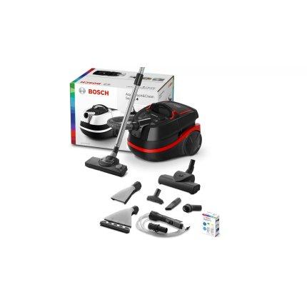 Aspirator Wet&Dry Bosch BWD421POW 3in1 Serie 4, 2100W, Aqua Wash&Clean, negru