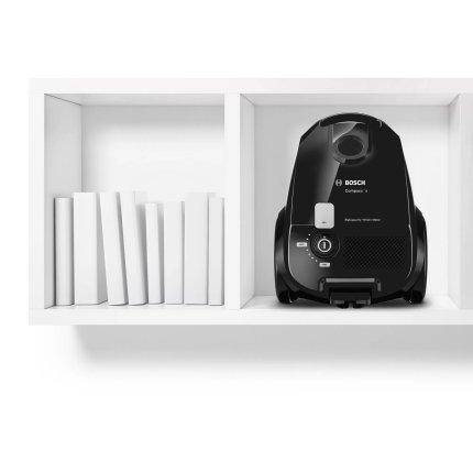 Aspirator cu sac Bosch BZGL2X100 Compaxx'x, 600W, negru