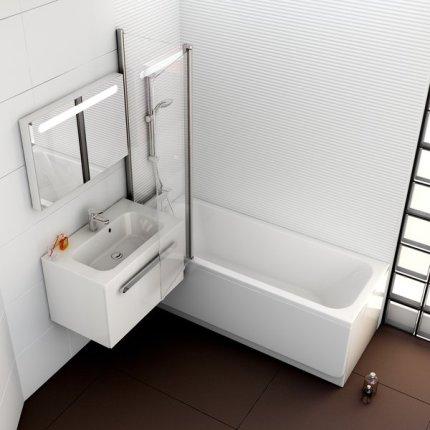 Cada rectangulara Ravak Concept Chrome 160x70cm, acril