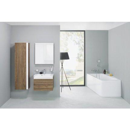 Cada baie asimetrica Ravak Concept 10° 160x95cm, acril, orientare stanga