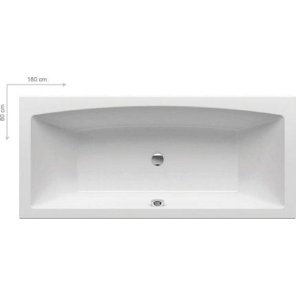 Cada rectangulara Ravak Formy 02, 180x80cm, alb