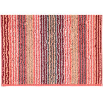 Prosop baie Cawo Unique Stripes 70x140 cm coral