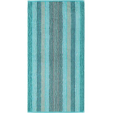 Prosop baie Cawo Unique Stripes 50x100 cm turcoaz