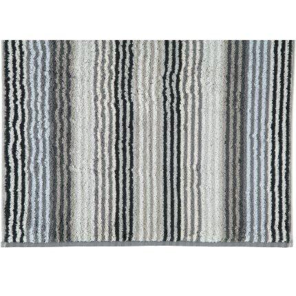 Prosop baie Cawo Unique Stripes 70x140 cm antracit