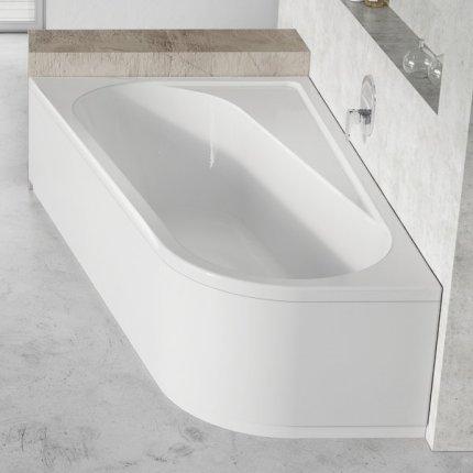 Panou frontal pentru cada  Ravak Concept Chrome 160x105cm, stanga, alb