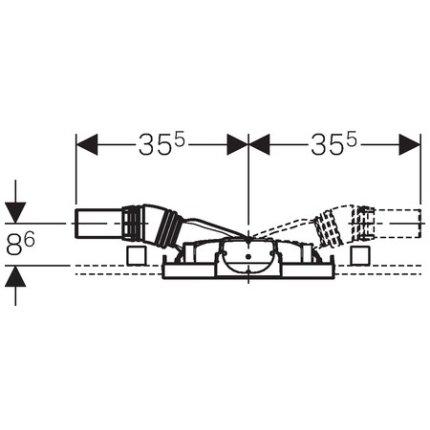 Cadru Geberit Duofix 50 pentru dus