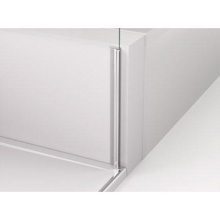 Perete lateral fix Sanswiss Cadura CAST 80cm, sticla securizata transparenta, profil slefuit lucios