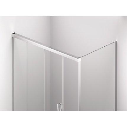 Perete lateral fix Sanswiss Cadura CAST 90cm, sticla securizata transparenta, profil slefuit lucios