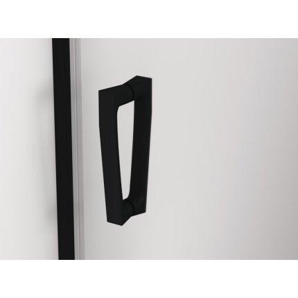 Usa de dus batanta Sanswis Cadura 90cm stanga, sticla securizata transparenta 6mm, profil negru mat