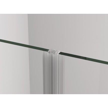 Usa de dus batanta Sanswis Cadura 70cm stanga, sticla securizata transparenta 6mm, profil slefuit lucios