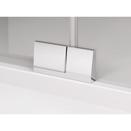 Usa de dus batanta cu parte fixa Sanswiss Cadura 100cm stanga, sticla securizata transparenta 6mm, profil slefuit lucios