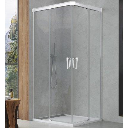 Cabina de dus Sanswiss Cadura cu usi culisante 100x100 cm, sticla securizata 6 mm