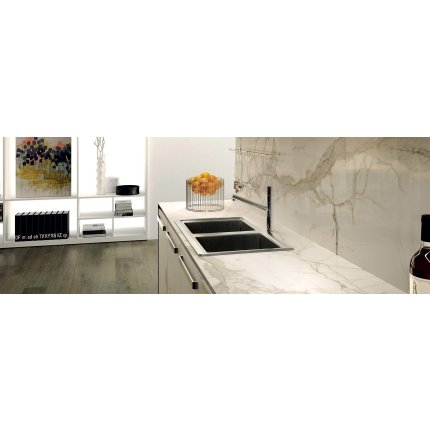 Gresie portelanata FMG Marmi Classici Maxfine 300x150cm, 6mm, Calacatta Lucidato