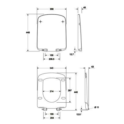 Capac WC Kolo Nova PRO rectangular