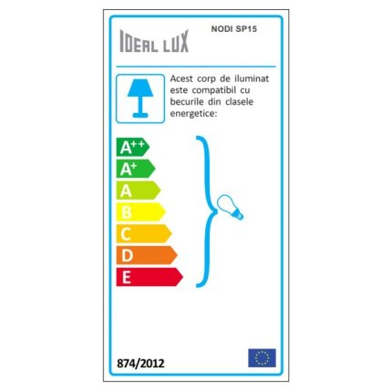 Suspensie Ideal Lux Nodi Bianco SP15, 15x40W, 105x60-140cm, crom