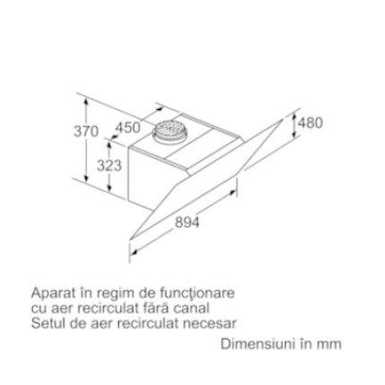 Hota decorativa Bosch DWK98PR60 Seria 8, design inclinat, Home Connect, 90cm, max 840 mc/h, negru