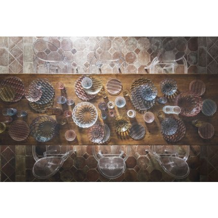 Platou Kartell Jelly design Patricia Urquiola, 45cm, fumuriu transparent