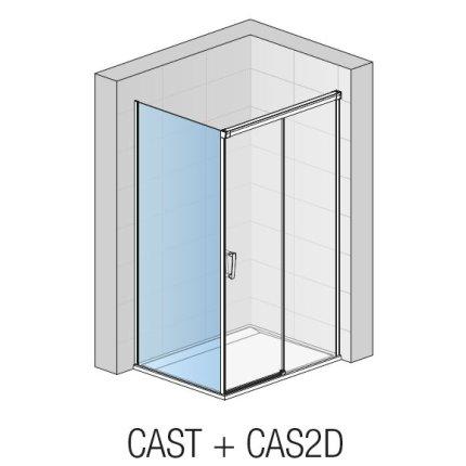 Perete lateral fix Sanswiss Cadura CAST 110cm, sticla securizata transparenta, profil slefuit lucios