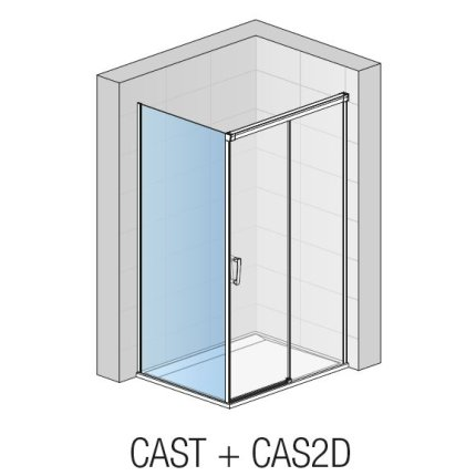 Perete lateral fix Sanswiss Cadura CAST 120cm, sticla securizata transparenta, profil slefuit lucios