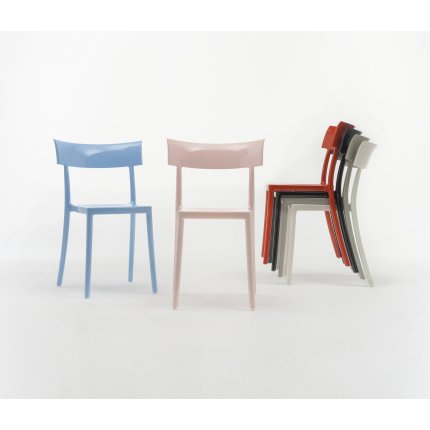 Scaun Kartell Catwalk design Philippe Starck alb