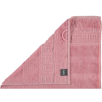 Prosop baie Cawo Noblesse Uni 50x100 cm roz antic