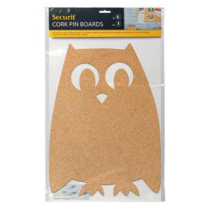 Panou pluta Securit Silhouette Owl 40,7x30x0,5cm