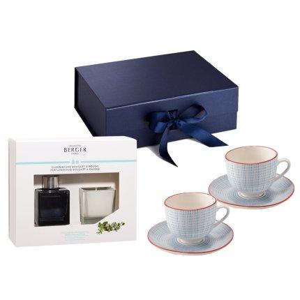 Set cadou Coffee Break Zafferano Blue