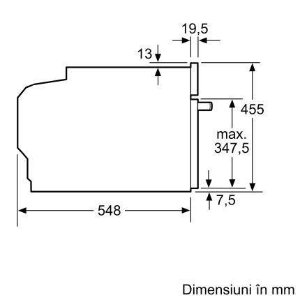 Cuptor cu aburi incorporabil Bosch CDG634AS0 Serie 8, 4 functii, 38 litri, inox