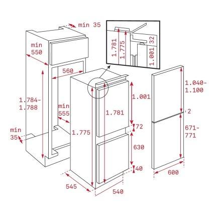 Combina frigorifica incorporabila Teka CI3 342 Quick Freeze, 285litri, clasa A+