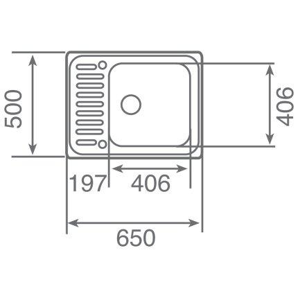 Chiuveta bucatarie Teka Classic 1B 650x500mm, inox