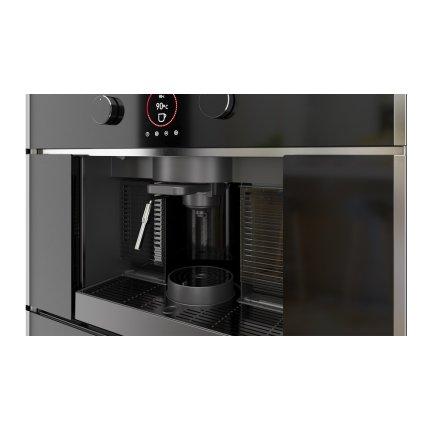 Espressor cu capsule incorporabil Teka CLC 835 MC WH, 5 adaptoare capsule, pad-uri si cafea macinata, pompa 19 bari, inox anti- pata/cristal alb
