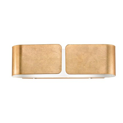 Aplica Ideal Lux Clip AP2 Small, 2X60W, 44x12.7cm, auriu