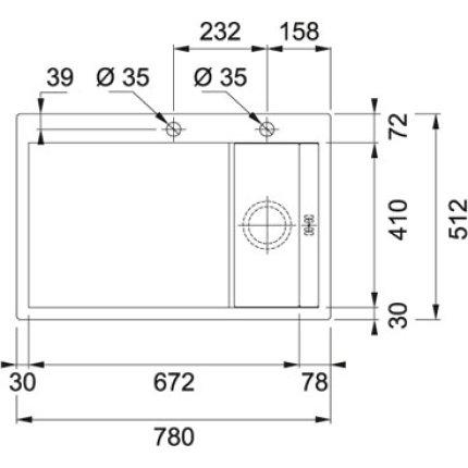Chiuveta Franke Crystal Line CLV 214 1000x512mm, picurator dreapta, finisaj Cristallo Bianco