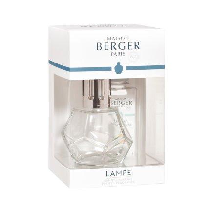 Set Berger lampa catalitica Geometry Transparente cu parfum Zeste de Verveine