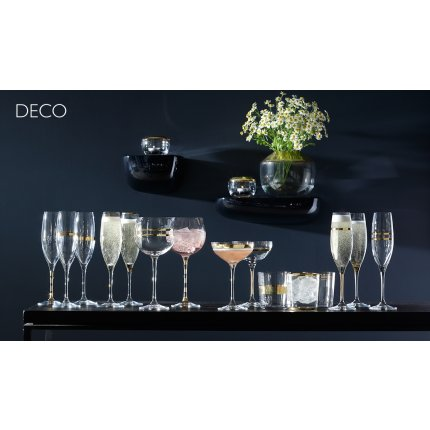 Set 8 pahare LSA International Deco Tumbler Gold 390ml