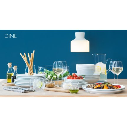 Sosiera cu suport lemn LSA International Dine 450ml