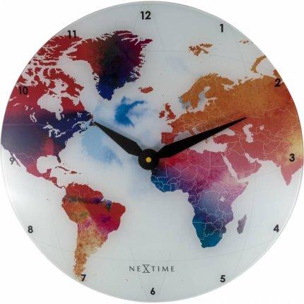 Ceas de perete NeXtime Colorful World 43cm