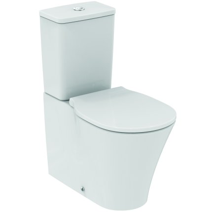Set complet vas WC Ideal Standard Connect Air AquaBlade back-to-wall cu rezervor asezat si capac Thin slim inchidere lenta