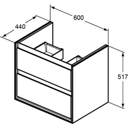 Dulap baza Ideal Standard Connect Air 60 cm, alb