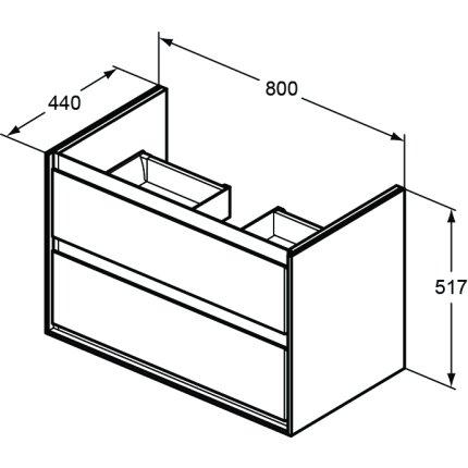 Dulap baza Ideal Standard Connect Air 80 cm, alb