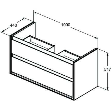Dulap baza Ideal Standard Connect Air 100 cm, alb