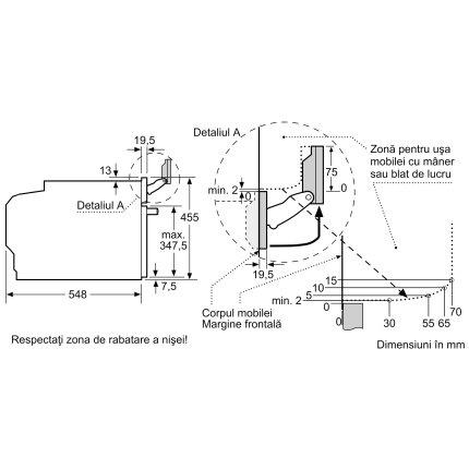 Cuptor cu aburi incorporabil Bosch CSG656BS2 Serie 8, 12 functii, 47 litri, EcoClean, inox