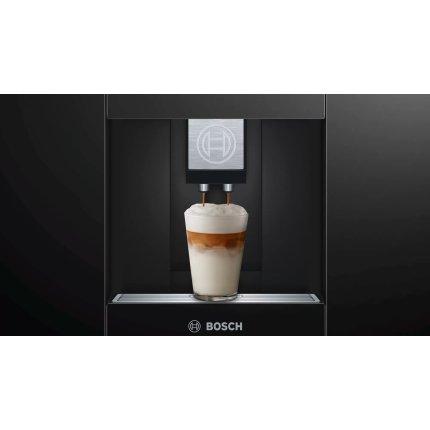 Espressor automat incorporabil Bosch CTL636EB6 Home Connect, 19 bari, rasnita ceramica, SensoFlow, negru