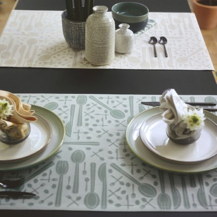 Napron Sander Jacquards Cutlery 47x150cm, 19 bej