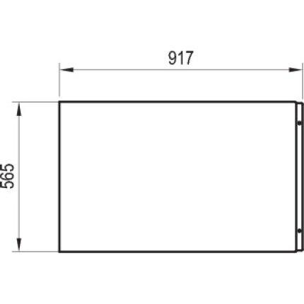 Panou lateral pentru cada Ravak XXL 90cm alb