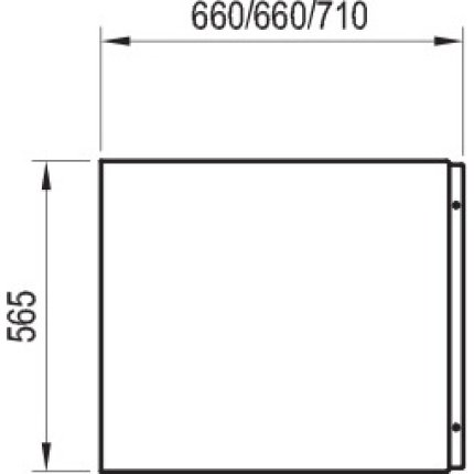 Panou lateral pentru cada Ravak Concept Chrome 75cm, alb
